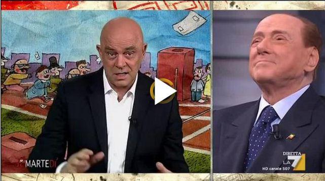 Berlusconi a Dimartedì, quella frase su Renzi non passa inosservata