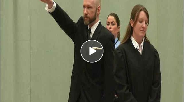 Norvegia, saluto nazista di Breivik al Processo D'Appello