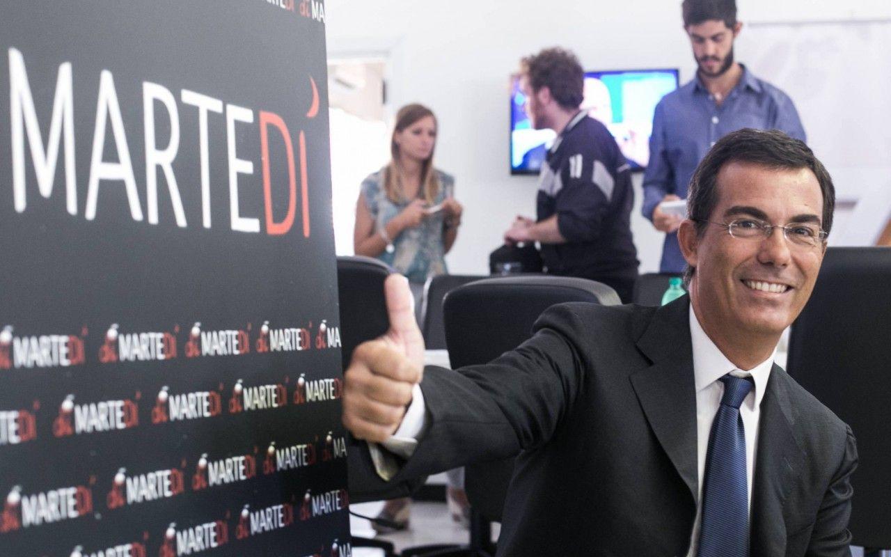 DiMartedì, Giovanni Floris saluta Crozza nella prima puntata senza il comico