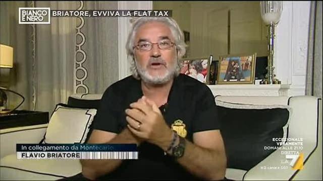 Flavio Briatore contro Luisella Costamagna sulla Flax Tax